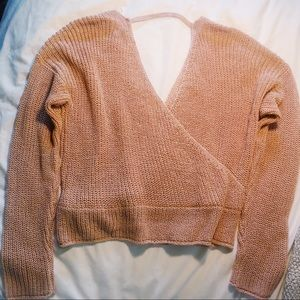 Pinkish beige sweater